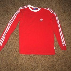 Adidas red long sleeve